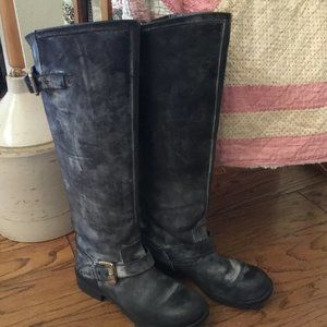 Steve Madden Lindley Black Leather Tall Boots 8
